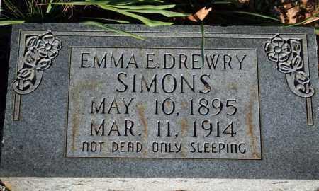 SIMONS, EMMA EMELINE - Searcy County, Arkansas   EMMA EMELINE SIMONS - Arkansas Gravestone Photos