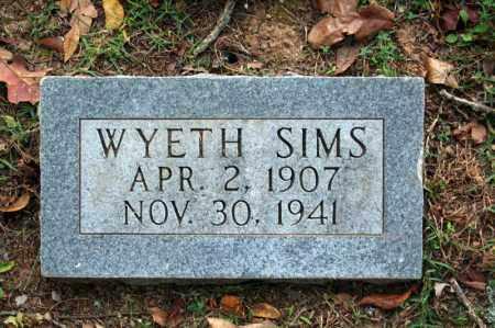 SIMS, WYETH - Searcy County, Arkansas   WYETH SIMS - Arkansas Gravestone Photos