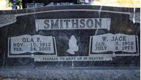 SMITHSON, W. JACK - Searcy County, Arkansas | W. JACK SMITHSON - Arkansas Gravestone Photos