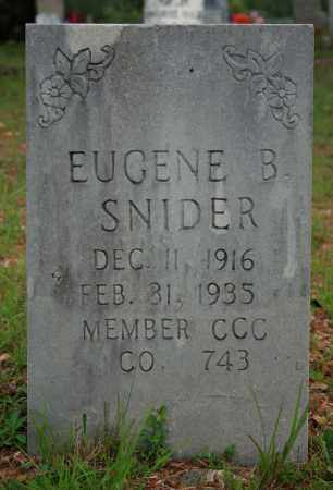 SNIDER, EUGENE B. - Searcy County, Arkansas | EUGENE B. SNIDER - Arkansas Gravestone Photos