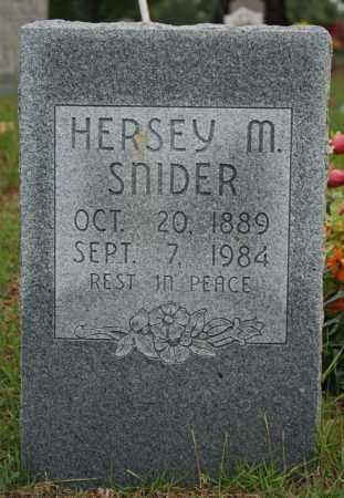 SNIDER, HERSEY M. (SARRATT) - Searcy County, Arkansas | HERSEY M. (SARRATT) SNIDER - Arkansas Gravestone Photos
