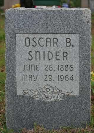SNIDER, OSCAR B. - Searcy County, Arkansas   OSCAR B. SNIDER - Arkansas Gravestone Photos