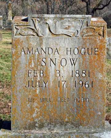 SNOW, AMANDA - Searcy County, Arkansas | AMANDA SNOW - Arkansas Gravestone Photos