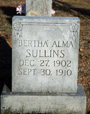 SULLINS, BERTHA ALMA - Searcy County, Arkansas | BERTHA ALMA SULLINS - Arkansas Gravestone Photos