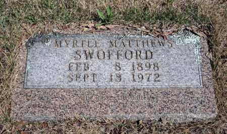 MATTHEWS SWOFFORD, MYRELL - Searcy County, Arkansas | MYRELL MATTHEWS SWOFFORD - Arkansas Gravestone Photos