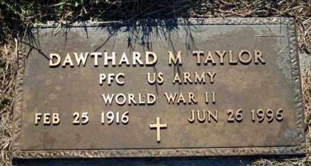 TAYLOR  (VETERAN WWII), DAWTHARD M - Searcy County, Arkansas | DAWTHARD M TAYLOR  (VETERAN WWII) - Arkansas Gravestone Photos