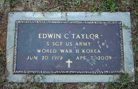 TAYLOR (VETERAN 2 WARS), EDWIN C - Searcy County, Arkansas | EDWIN C TAYLOR (VETERAN 2 WARS) - Arkansas Gravestone Photos