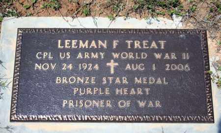 TREAT (VETERAN WWII), LEEMAN F - Searcy County, Arkansas | LEEMAN F TREAT (VETERAN WWII) - Arkansas Gravestone Photos
