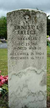 TREECE (VETERAN WWII), ERNEST L - Searcy County, Arkansas   ERNEST L TREECE (VETERAN WWII) - Arkansas Gravestone Photos