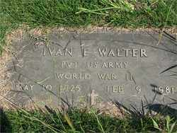 WALTER (VETERAN WWII), IVAN E - Searcy County, Arkansas | IVAN E WALTER (VETERAN WWII) - Arkansas Gravestone Photos