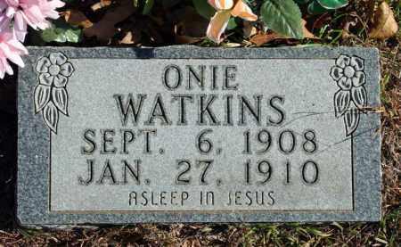WATKINS, ONIE - Searcy County, Arkansas | ONIE WATKINS - Arkansas Gravestone Photos