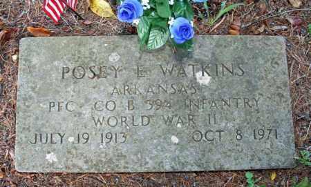 WATKINS (VETERAN WWII), POSEY E. - Searcy County, Arkansas   POSEY E. WATKINS (VETERAN WWII) - Arkansas Gravestone Photos