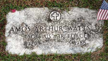 WATTS (VETERAN), AMOS ARTHUR - Searcy County, Arkansas | AMOS ARTHUR WATTS (VETERAN) - Arkansas Gravestone Photos