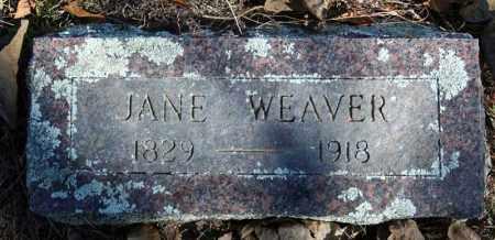 WEAVER, JANE - Searcy County, Arkansas | JANE WEAVER - Arkansas Gravestone Photos