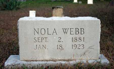 WEBB, NOLA - Searcy County, Arkansas   NOLA WEBB - Arkansas Gravestone Photos