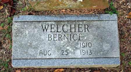 WELCHER, BERNICE - Searcy County, Arkansas | BERNICE WELCHER - Arkansas Gravestone Photos