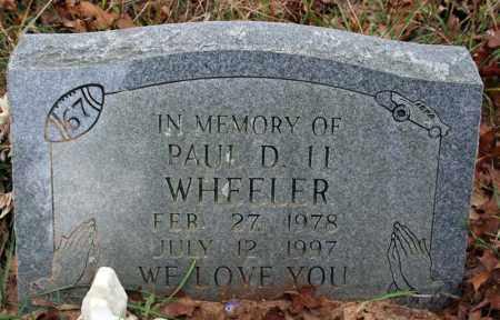 WHEELER, PAUL D. II - Searcy County, Arkansas | PAUL D. II WHEELER - Arkansas Gravestone Photos