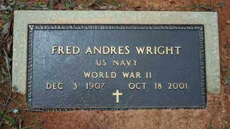 WRIGHT (VETERAN WWII), FRED ANDRES - Searcy County, Arkansas | FRED ANDRES WRIGHT (VETERAN WWII) - Arkansas Gravestone Photos