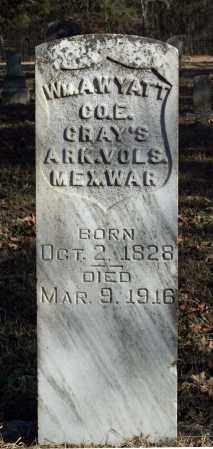 WYATT (VETERAN MAW), WM A - Searcy County, Arkansas   WM A WYATT (VETERAN MAW) - Arkansas Gravestone Photos