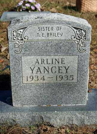 YANCEY, ARLINE - Searcy County, Arkansas | ARLINE YANCEY - Arkansas Gravestone Photos