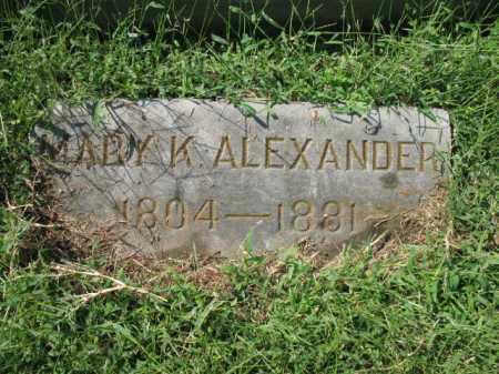 ALEXANDER, MARY K - Sebastian County, Arkansas   MARY K ALEXANDER - Arkansas Gravestone Photos