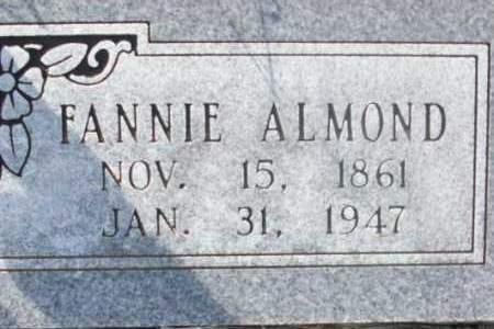 ALMOND, FANNIE - Sebastian County, Arkansas | FANNIE ALMOND - Arkansas Gravestone Photos