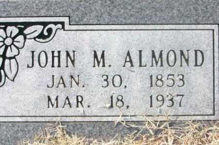ALMOND, JOHN M. - Sebastian County, Arkansas | JOHN M. ALMOND - Arkansas Gravestone Photos