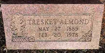 ALMOND, TRESKET - Sebastian County, Arkansas   TRESKET ALMOND - Arkansas Gravestone Photos