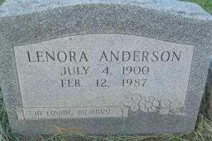 ANDERSON, LENORA - Sebastian County, Arkansas | LENORA ANDERSON - Arkansas Gravestone Photos