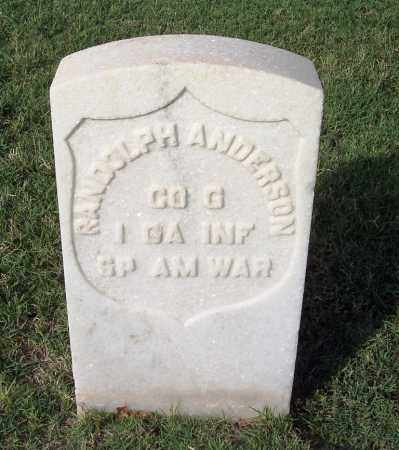 ANDERSON (VETERAN SAW), RANDOLPH - Sebastian County, Arkansas | RANDOLPH ANDERSON (VETERAN SAW) - Arkansas Gravestone Photos