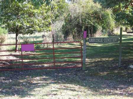 *ARBUCKLE CEMETERY GATE,  - Sebastian County, Arkansas    *ARBUCKLE CEMETERY GATE - Arkansas Gravestone Photos
