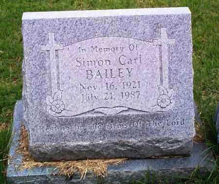 BAILEY, SIMON CARL - Sebastian County, Arkansas | SIMON CARL BAILEY - Arkansas Gravestone Photos