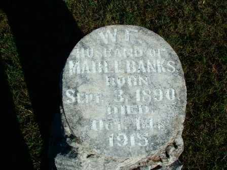 BANKS, W.F.(2) - Sebastian County, Arkansas | W.F.(2) BANKS - Arkansas Gravestone Photos