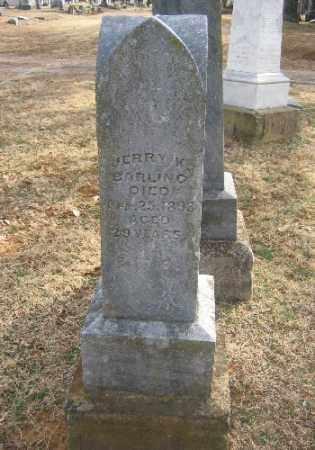 BARLING, JERRY K. - Sebastian County, Arkansas | JERRY K. BARLING - Arkansas Gravestone Photos