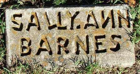 BARNES, SALLY ANN - Sebastian County, Arkansas | SALLY ANN BARNES - Arkansas Gravestone Photos
