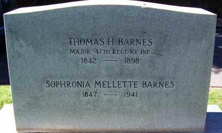 MELLETTE BARNES, SOPHRONIA - Sebastian County, Arkansas | SOPHRONIA MELLETTE BARNES - Arkansas Gravestone Photos