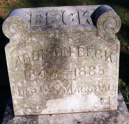 BECK  (VETERAN CSA) (FAMOUS), ADDISON - Sebastian County, Arkansas   ADDISON BECK  (VETERAN CSA) (FAMOUS) - Arkansas Gravestone Photos