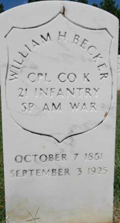 BECKER (VETERAN SAW), WILLIAM H - Sebastian County, Arkansas | WILLIAM H BECKER (VETERAN SAW) - Arkansas Gravestone Photos