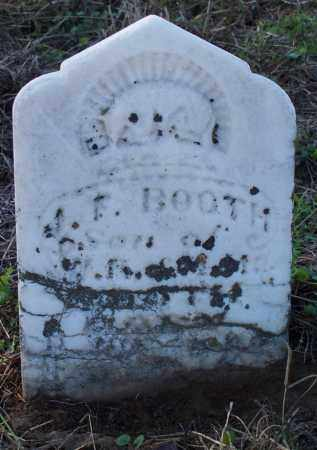 BOOTH, J F - Sebastian County, Arkansas   J F BOOTH - Arkansas Gravestone Photos