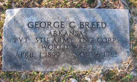 BREED (VETERAN WWI), GEORGE C - Sebastian County, Arkansas | GEORGE C BREED (VETERAN WWI) - Arkansas Gravestone Photos