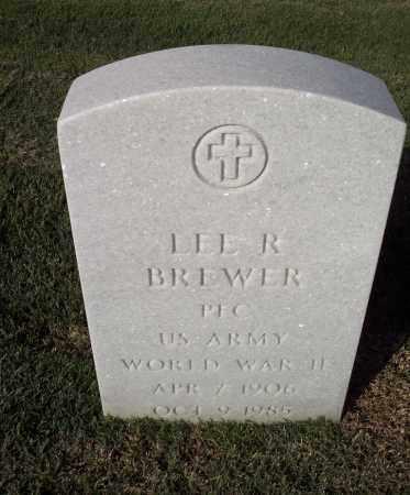 BREWER (VETERAN WWII), LEE R - Sebastian County, Arkansas   LEE R BREWER (VETERAN WWII) - Arkansas Gravestone Photos