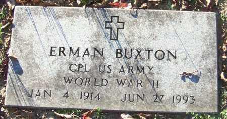 BUXTON (VETERAN WWII), ERMAN - Sebastian County, Arkansas   ERMAN BUXTON (VETERAN WWII) - Arkansas Gravestone Photos