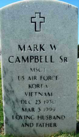 CAMPBELL, SR (VETERAN 2 WARS), MARK W - Sebastian County, Arkansas | MARK W CAMPBELL, SR (VETERAN 2 WARS) - Arkansas Gravestone Photos