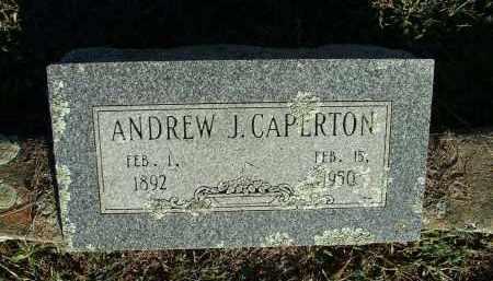 CAPERTON, ANDREW J - Sebastian County, Arkansas   ANDREW J CAPERTON - Arkansas Gravestone Photos