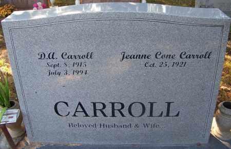 CARROLL, D. A. - Sebastian County, Arkansas | D. A. CARROLL - Arkansas Gravestone Photos