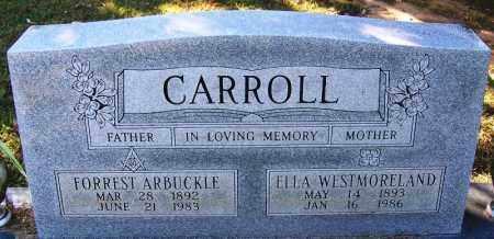 WESTMORELAND CARROLL, ELLA - Sebastian County, Arkansas | ELLA WESTMORELAND CARROLL - Arkansas Gravestone Photos