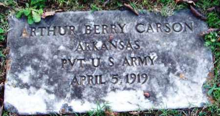 CARSON (VETERAN), ARTHUR BERRY - Sebastian County, Arkansas   ARTHUR BERRY CARSON (VETERAN) - Arkansas Gravestone Photos