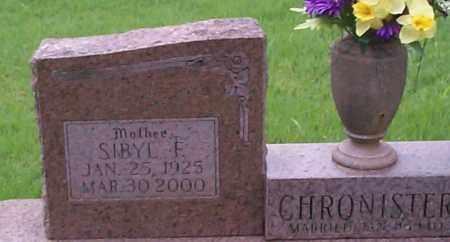 CHRONISTER, SIBYL F. - Sebastian County, Arkansas   SIBYL F. CHRONISTER - Arkansas Gravestone Photos