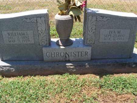 CHRONISTER, IVA M - Sebastian County, Arkansas | IVA M CHRONISTER - Arkansas Gravestone Photos