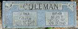 COLEMAN, JOHN F - Sebastian County, Arkansas | JOHN F COLEMAN - Arkansas Gravestone Photos